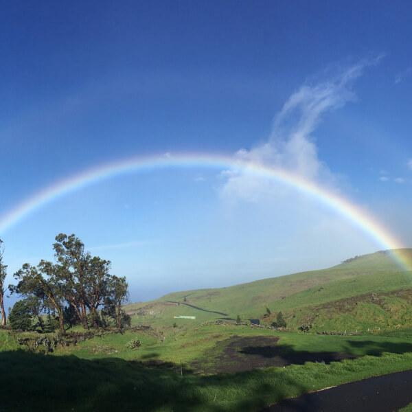 Rainbow over Kohala on the Big Island of Hawaii